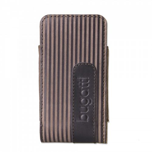 Etui bugatti Twin striped brown - rozmiar M - uniwersalne