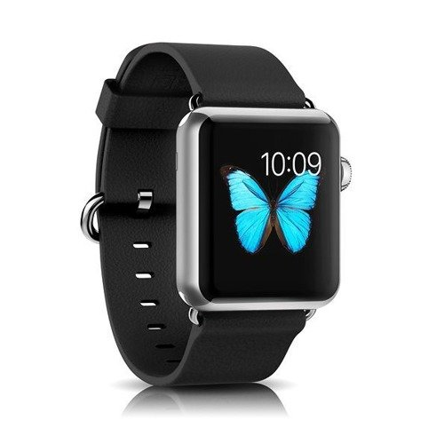 Skórzany pasek iCarer Band Latchi Black | Apple Watch 38mm