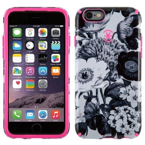 Speck CandyShell Inked - Etui iPhone 6/6s (Vintage Bouquet Grey/Shocking Pink)